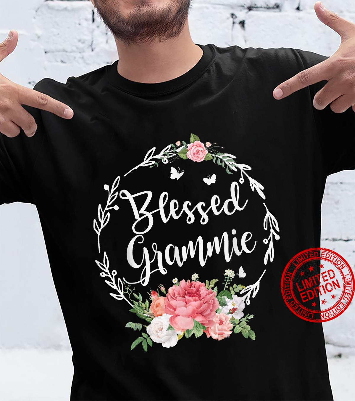 Blessed Grammie Floral For Grammie Shirt