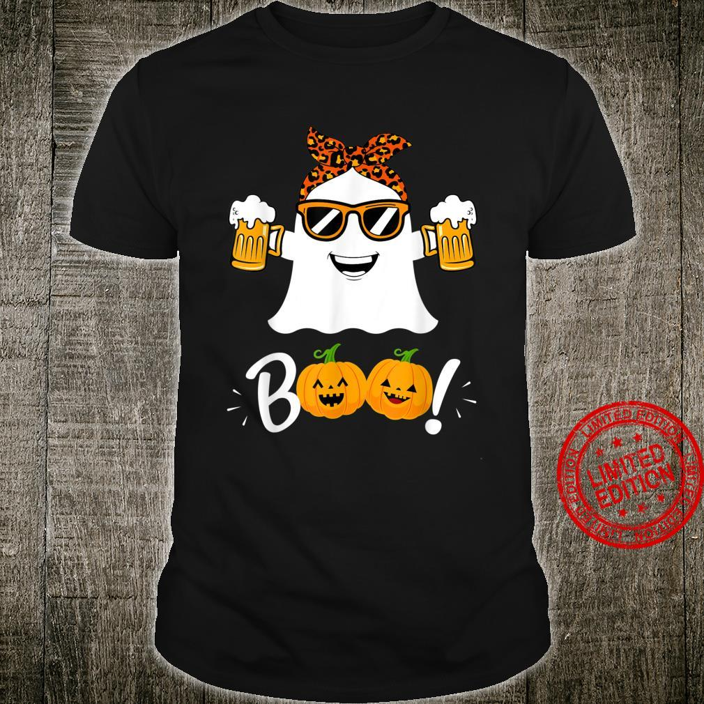 Funny Boo Halloween Scary I'm Here For The Boos Pumpkin Face Shirt