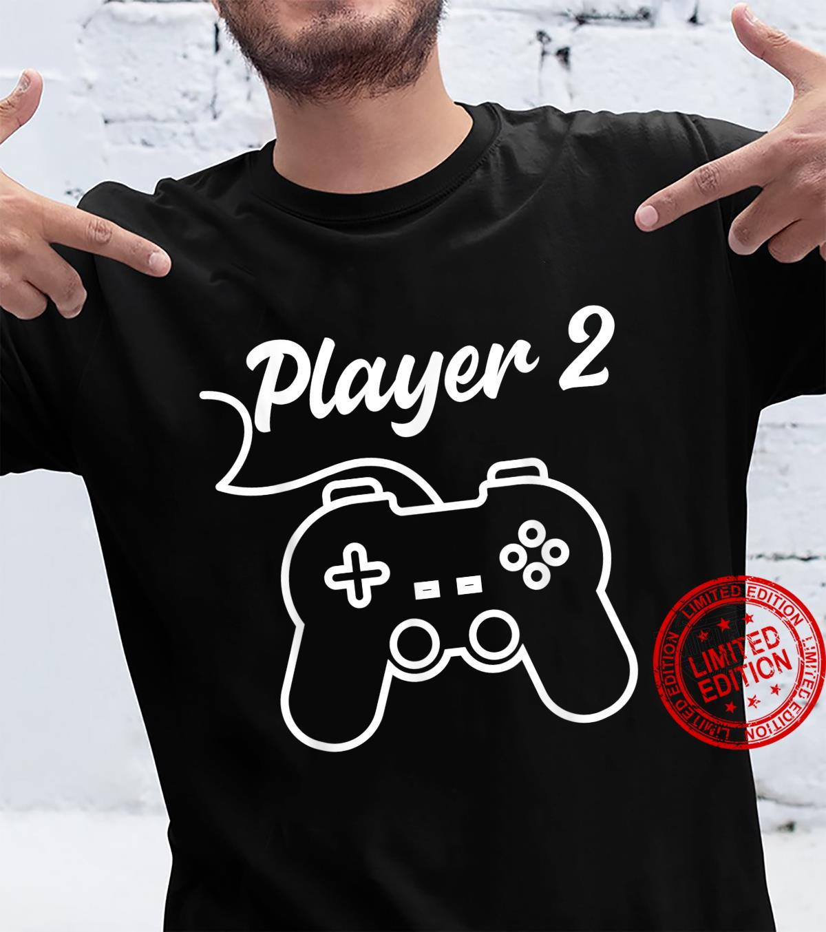 Funny Player 1 Player 2 Matching Gamer Couple Him Her Shirt