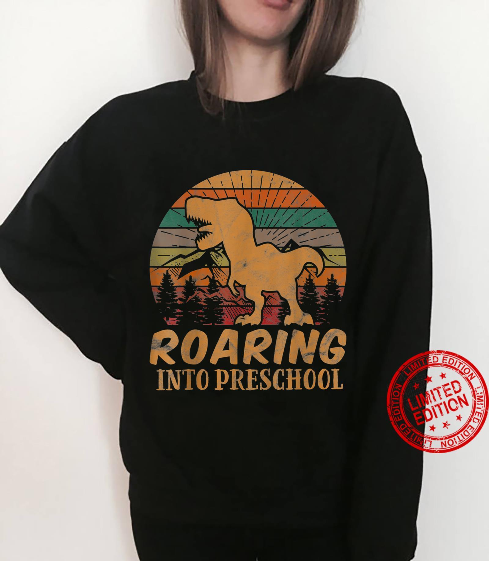 Kids Roaring Into Preschool Back to School PreK Boys Shirt sweater