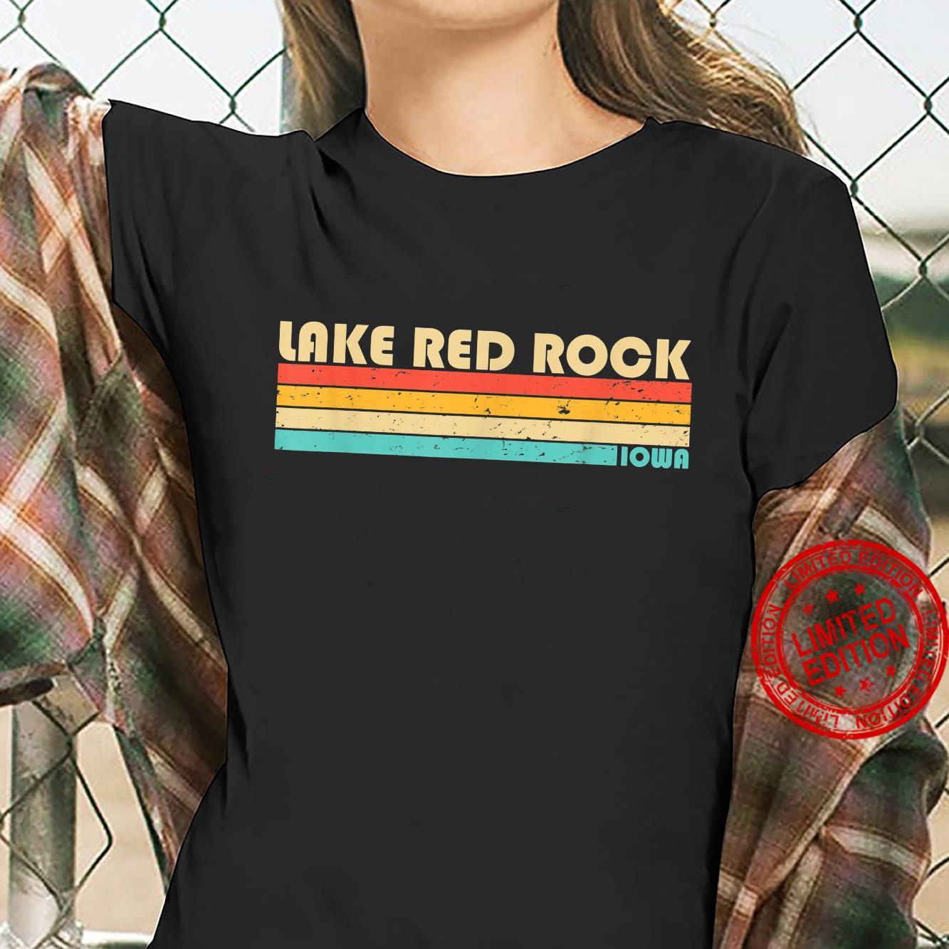 LAKE RED ROCK IOWA Fishing Camping Summer Shirt ladies tee