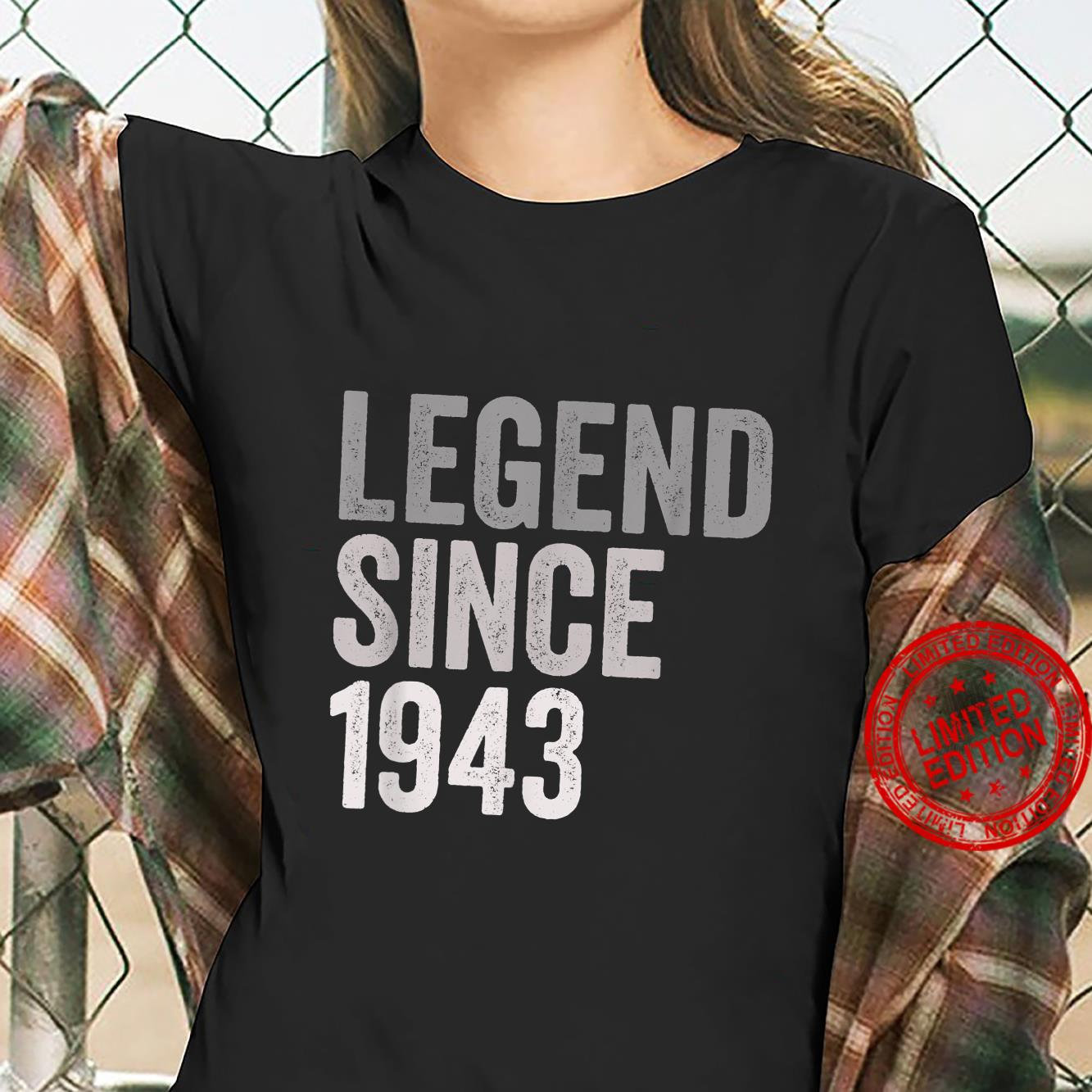 Legend SInce 1943 78 Years Old 78th Birthday Party Shirt ladies tee