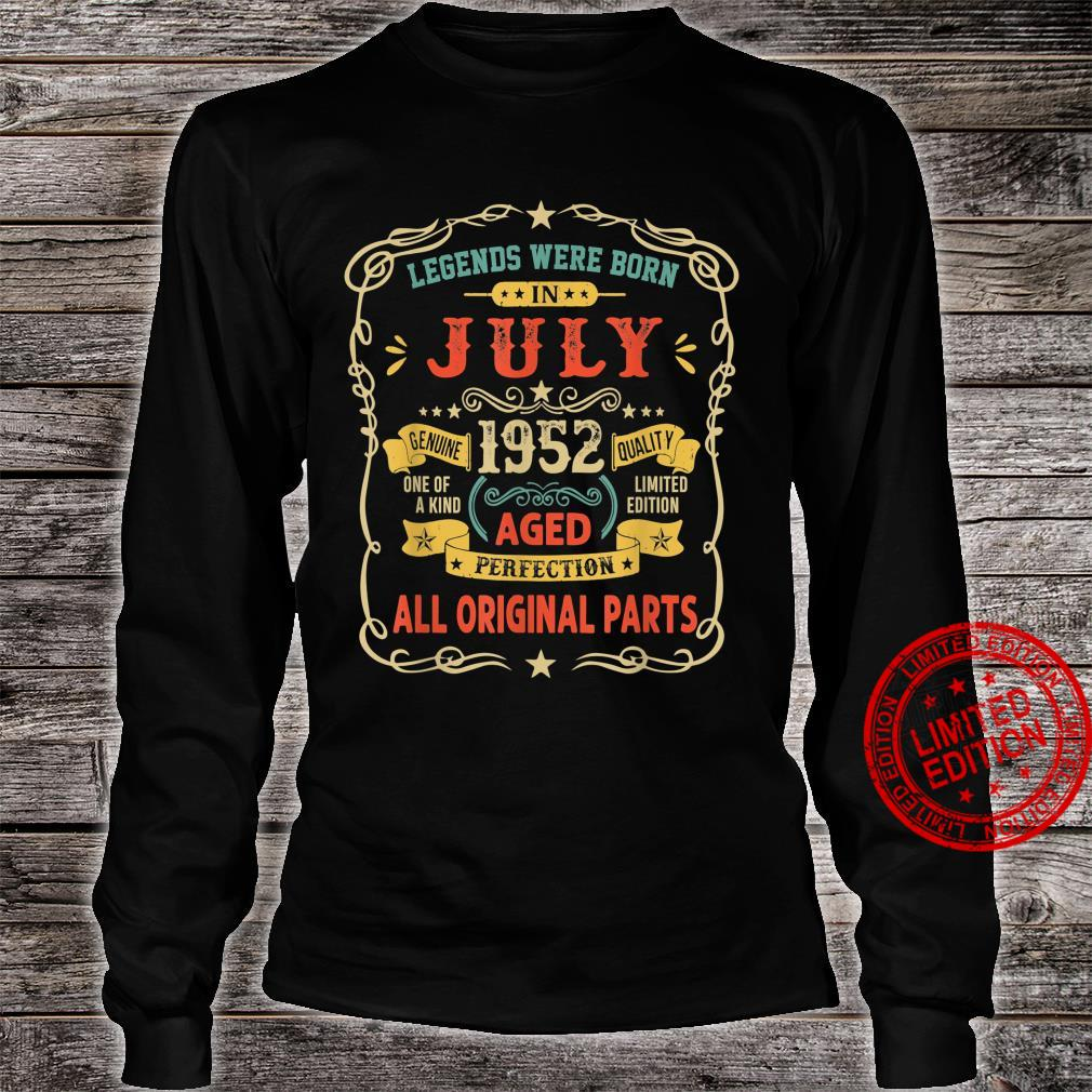 Legends Were Born In July 1952 69th Birthday Shirt long sleeved