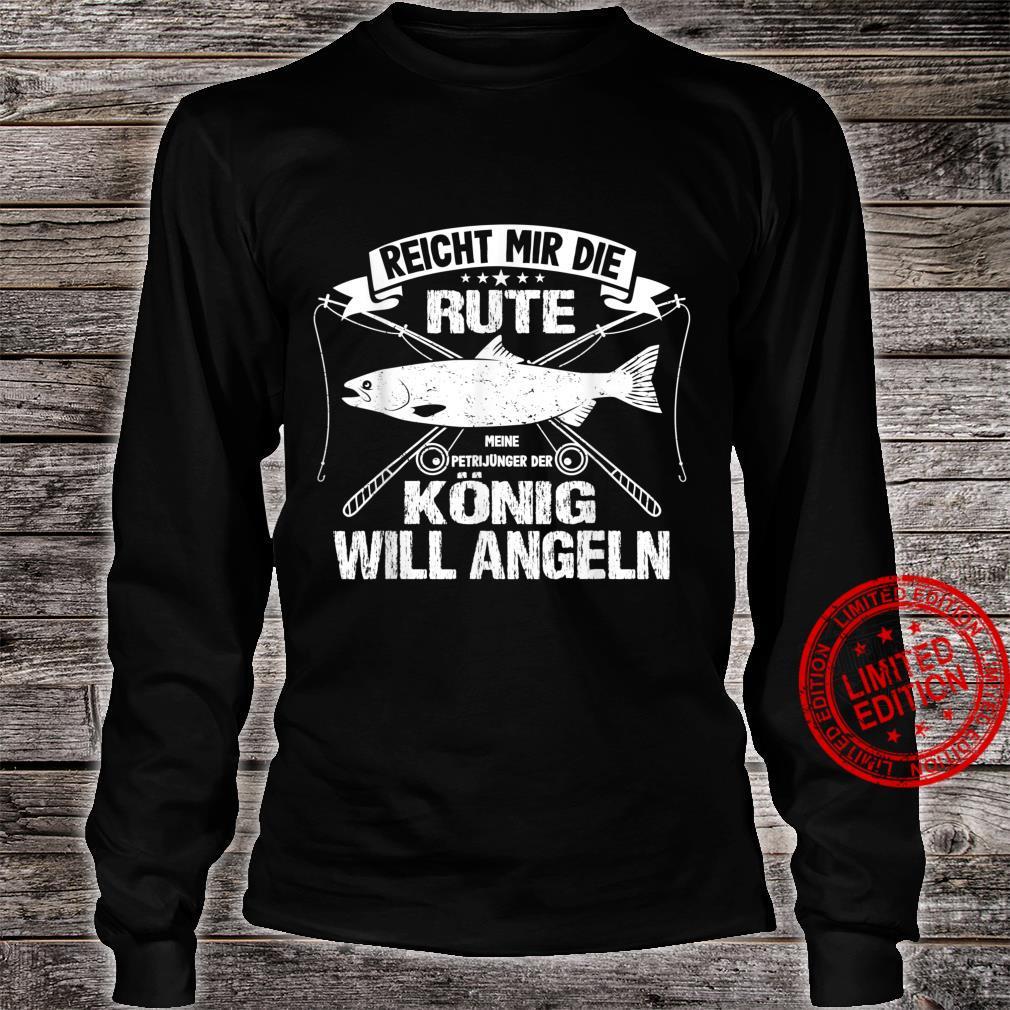 Lustiger Angler Fischer Angeln Sprüche Petri Heil Shirt long sleeved