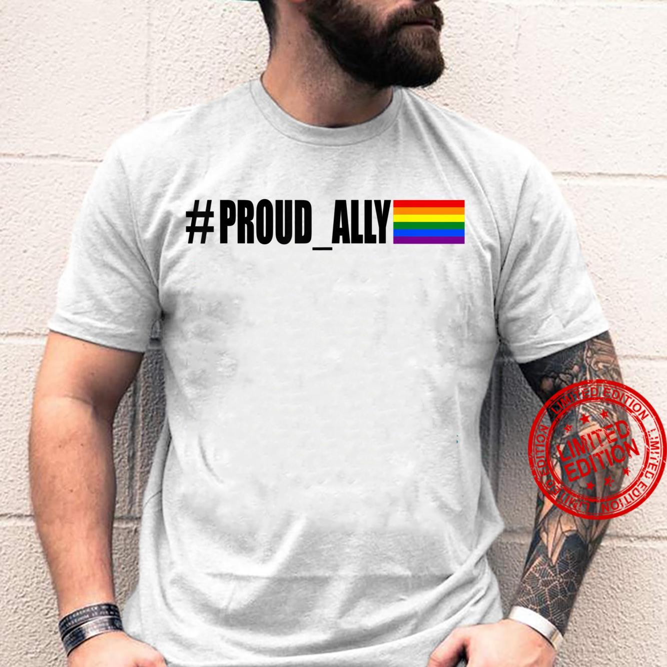 Proud Ally Rainbow Flag Gay Pride Month Support Shirt