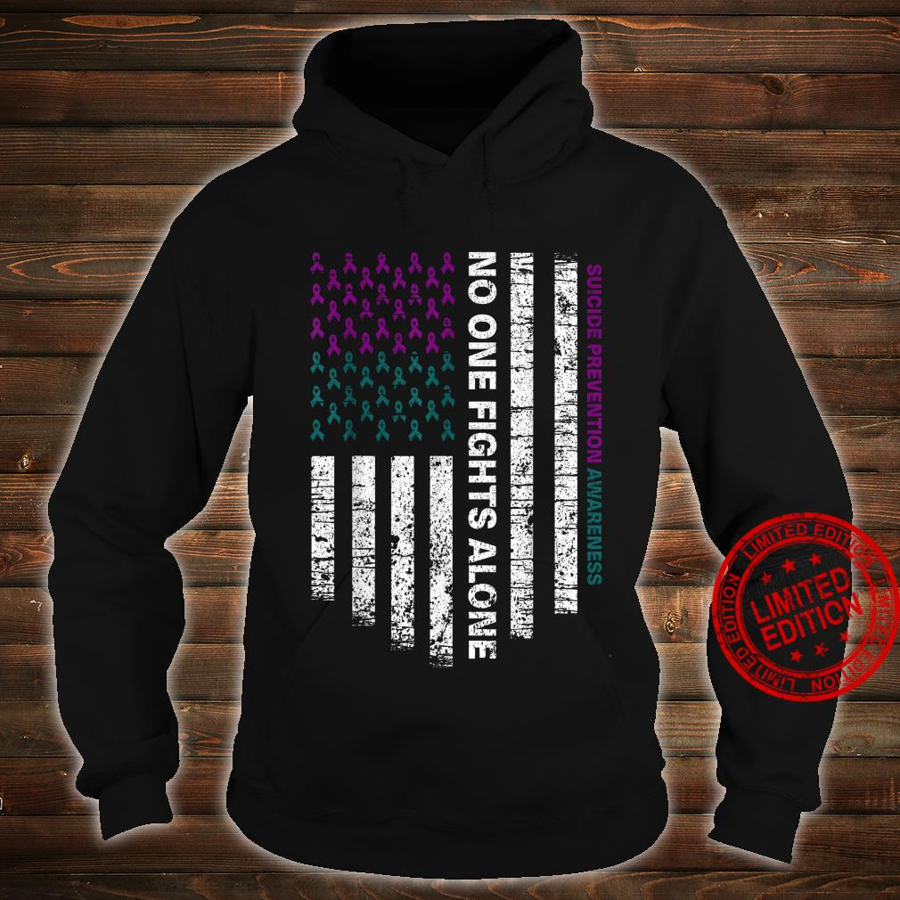 Suicide Prevention Awareness No One Fights Alone Shirt hoodie