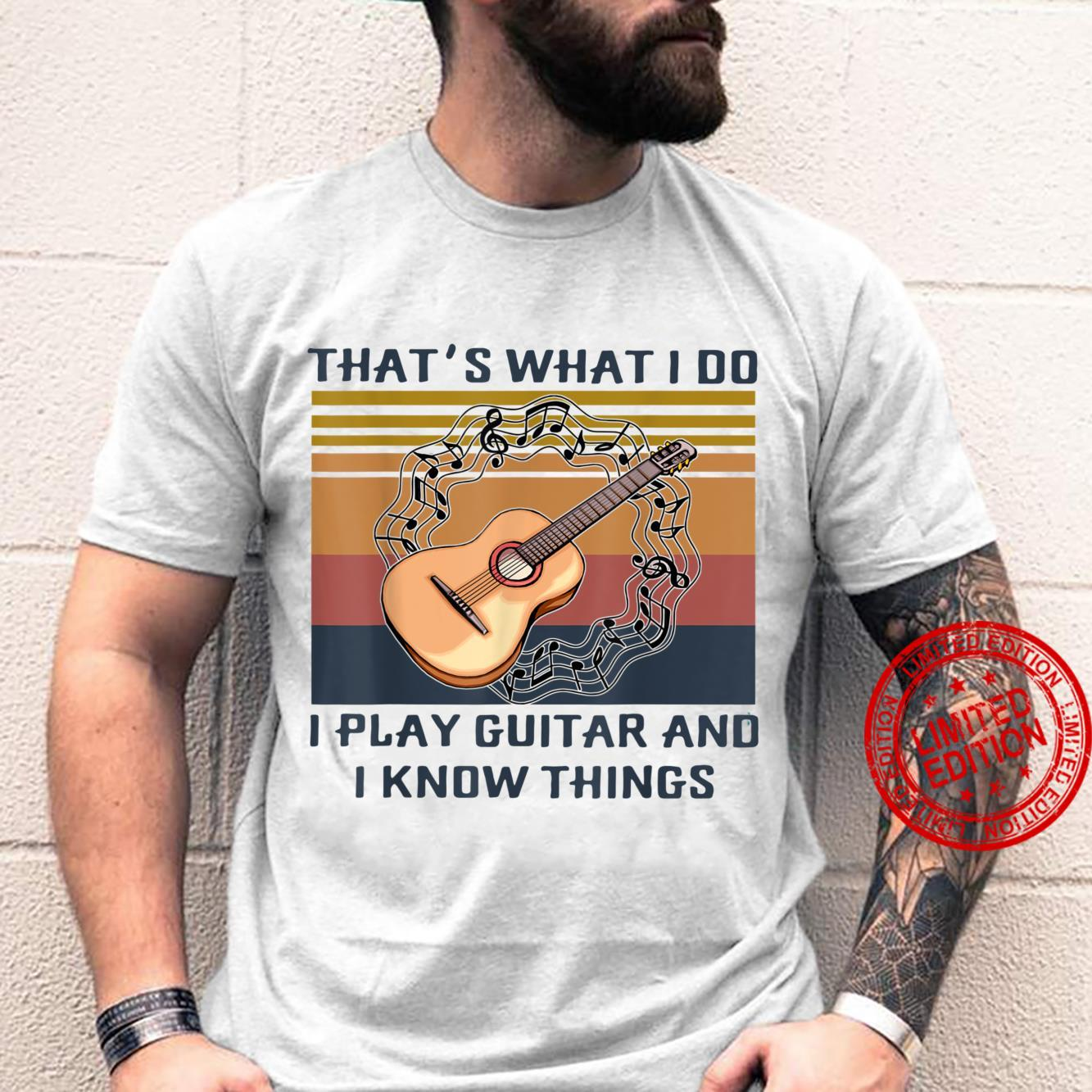 That's What I Do I Play Guitar Vintage Guitarist Shirt