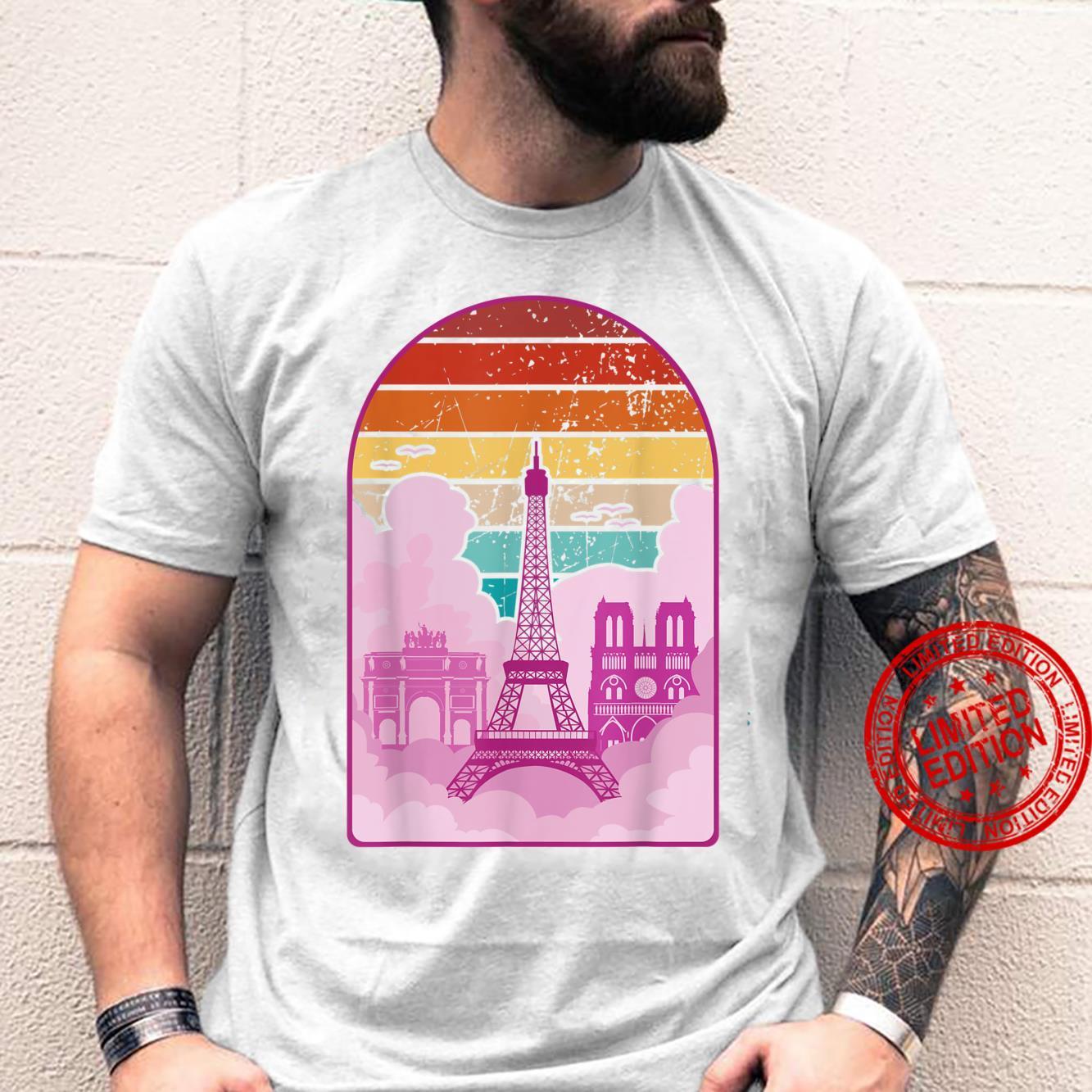 Vintage Paris Eiffel Tower & Notre Dame, Paris souvenir Shirt