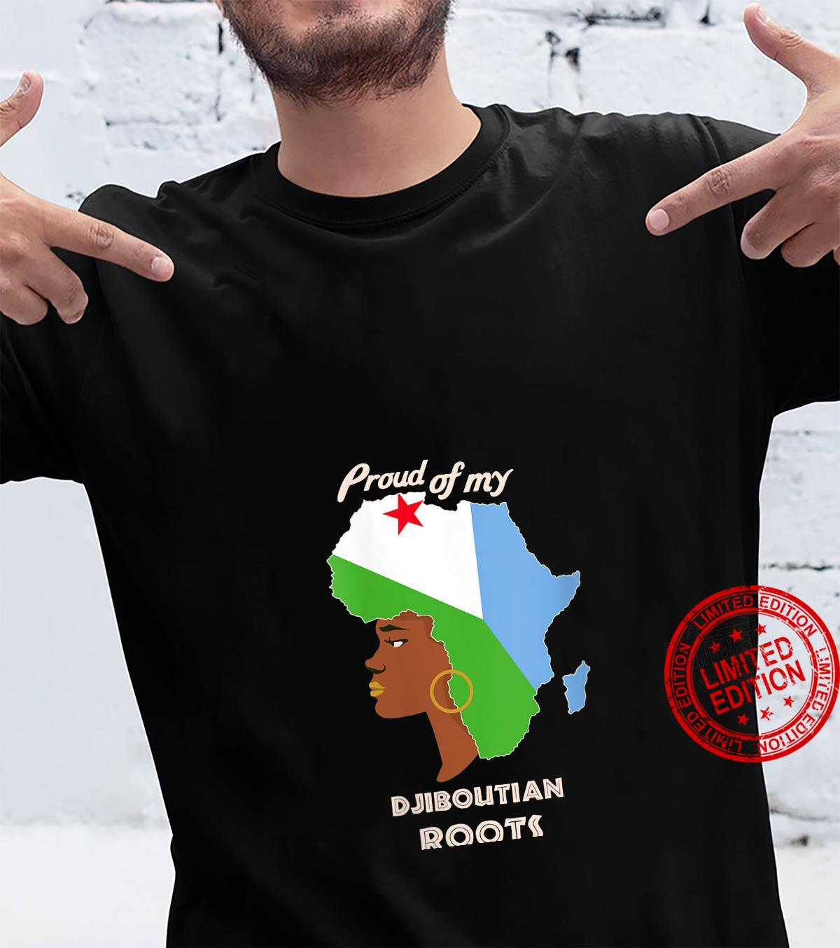 Womens Proud Djiboutian Roots Black History Month's Shirt
