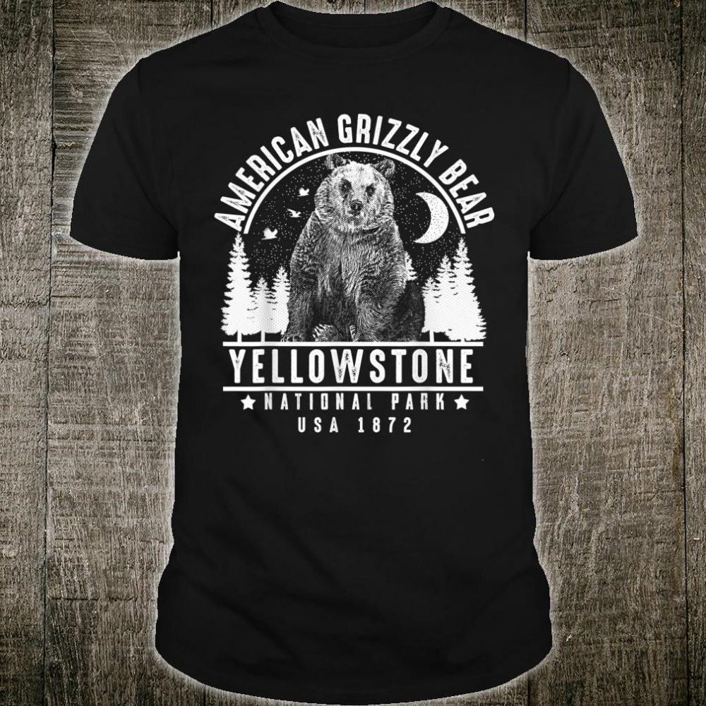 American Grizzly Bear Yellowstone National Park Shirt