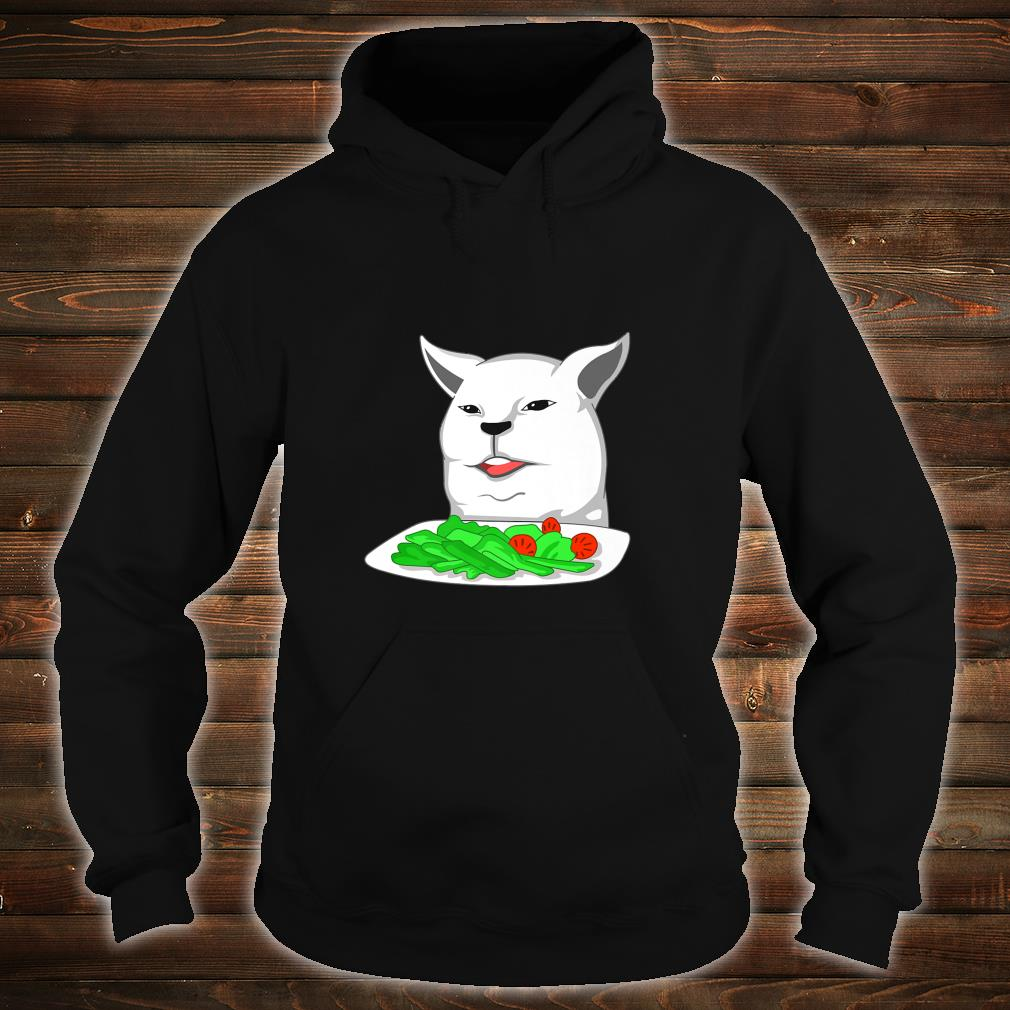 Angry yelling at confused cat at dinner table meme Shirt hoodie