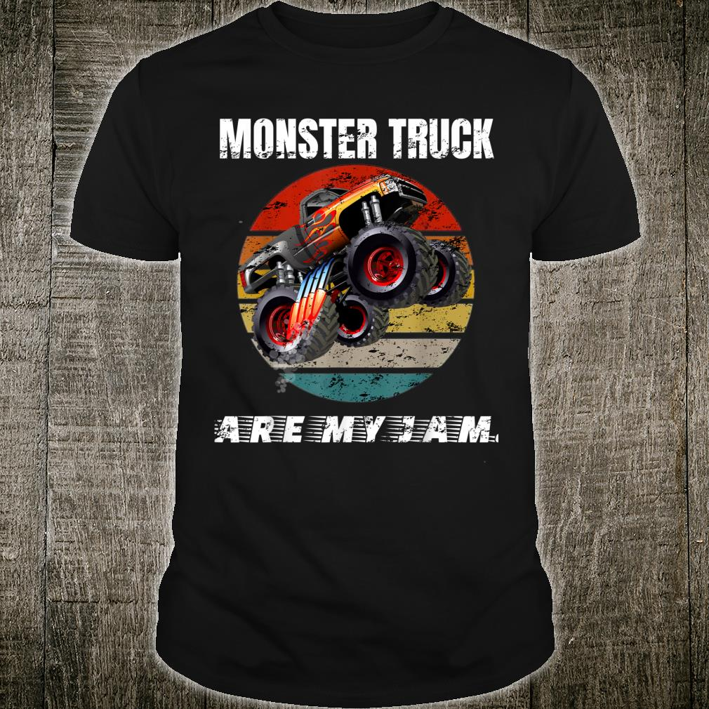 Awesome Vintage Monster Truck Are My Jam Retro Cool Shirt