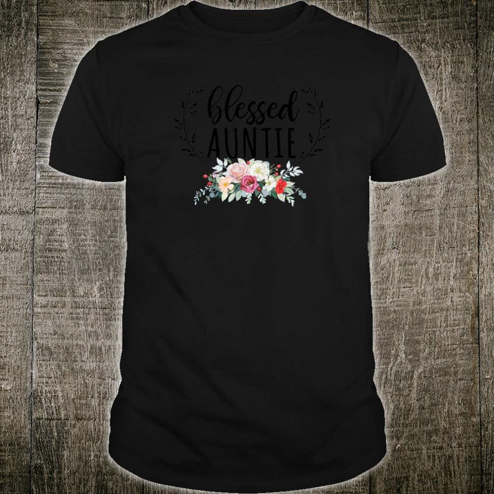 Blessed Auntie with floral, heart Mother's Day Shirt