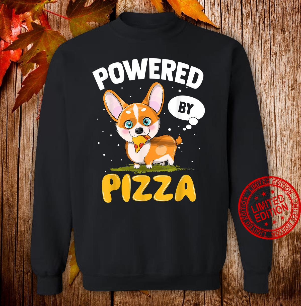 Corgi Powered By Pizza Cheesy Food Corgi Dog Pet Owner Shirt sweater