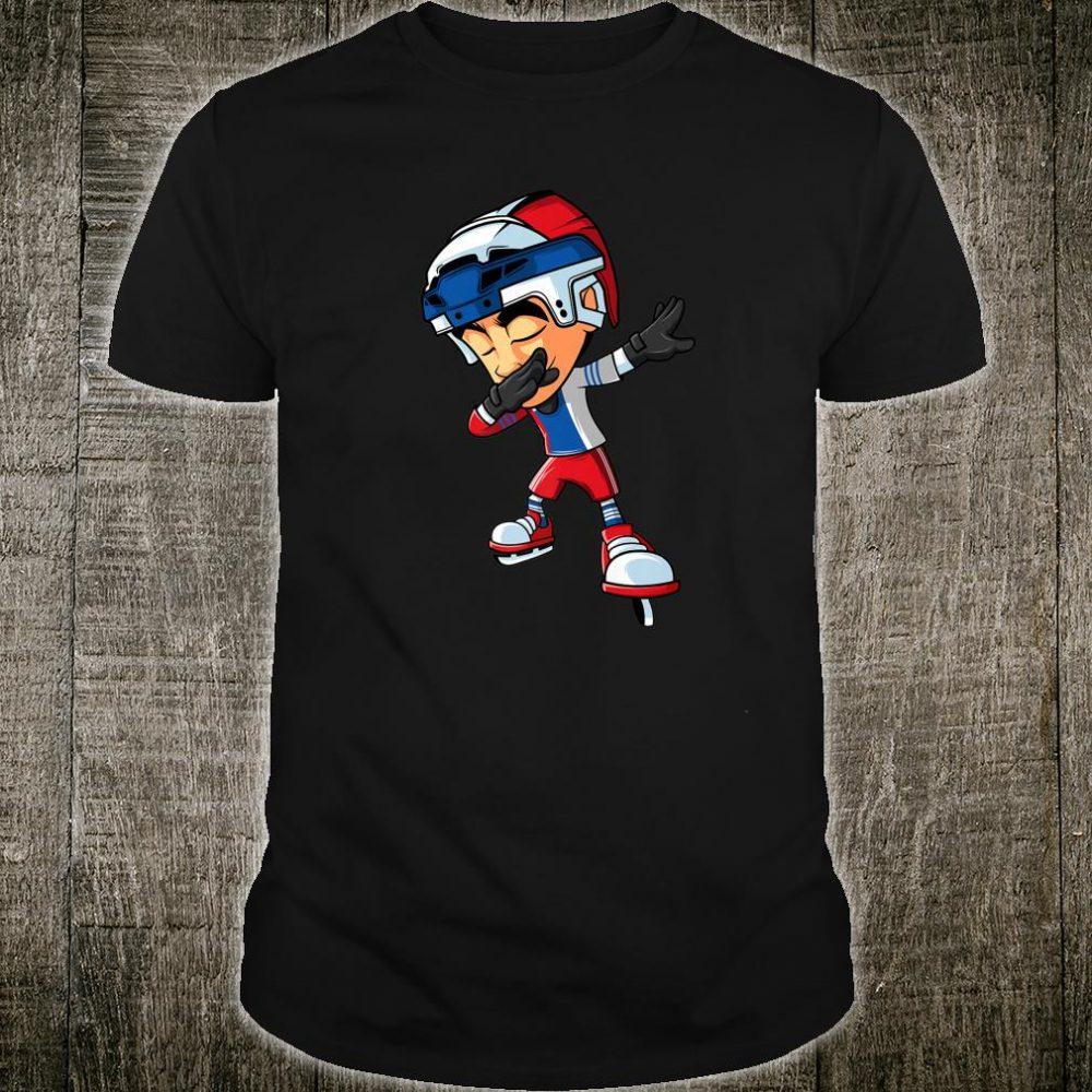 Dabbing Ice Hockey Player Russia Flag Dab Squad Boys Shirt