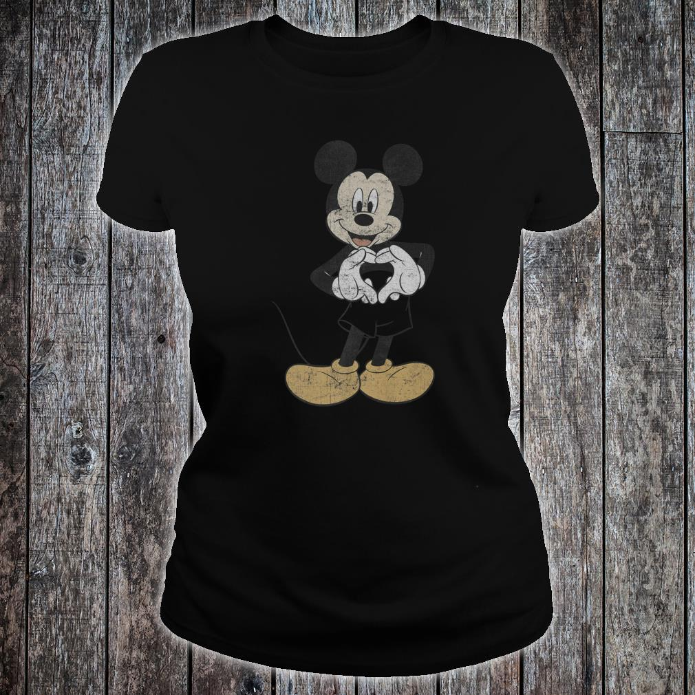 Disney Mickey And Friends Mickey Mouse Heart Hands Shirt ladies tee