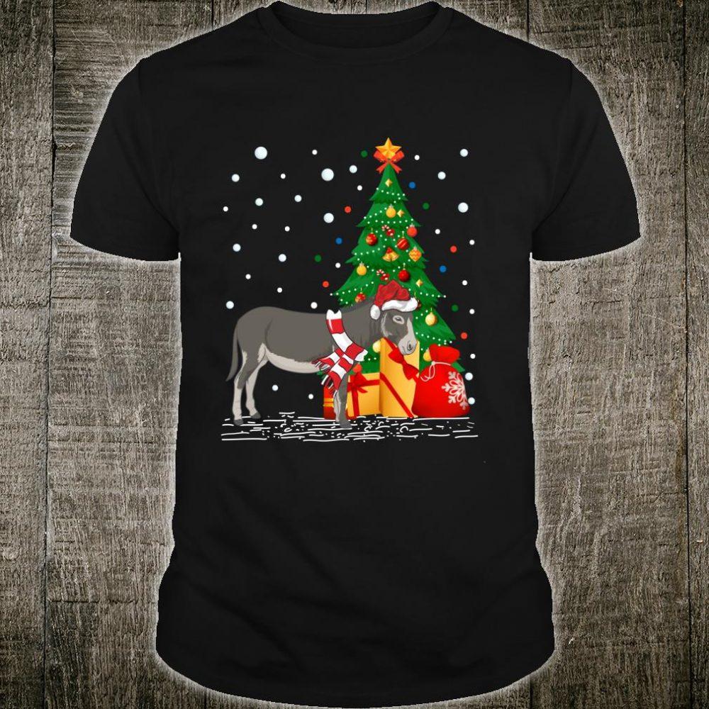 Donkeys Xmas Santa Hat Donkey Christmas Shirt