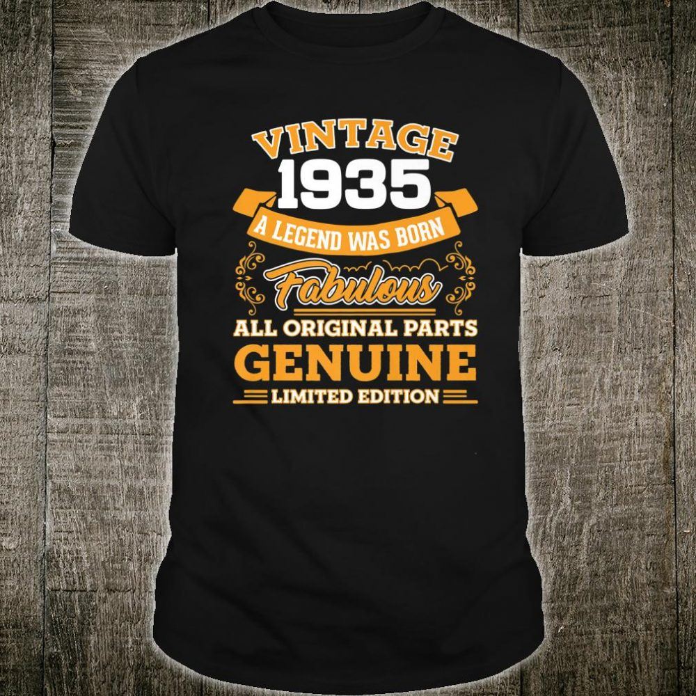 Funny 84th Birthday 84 Years Old Shirt