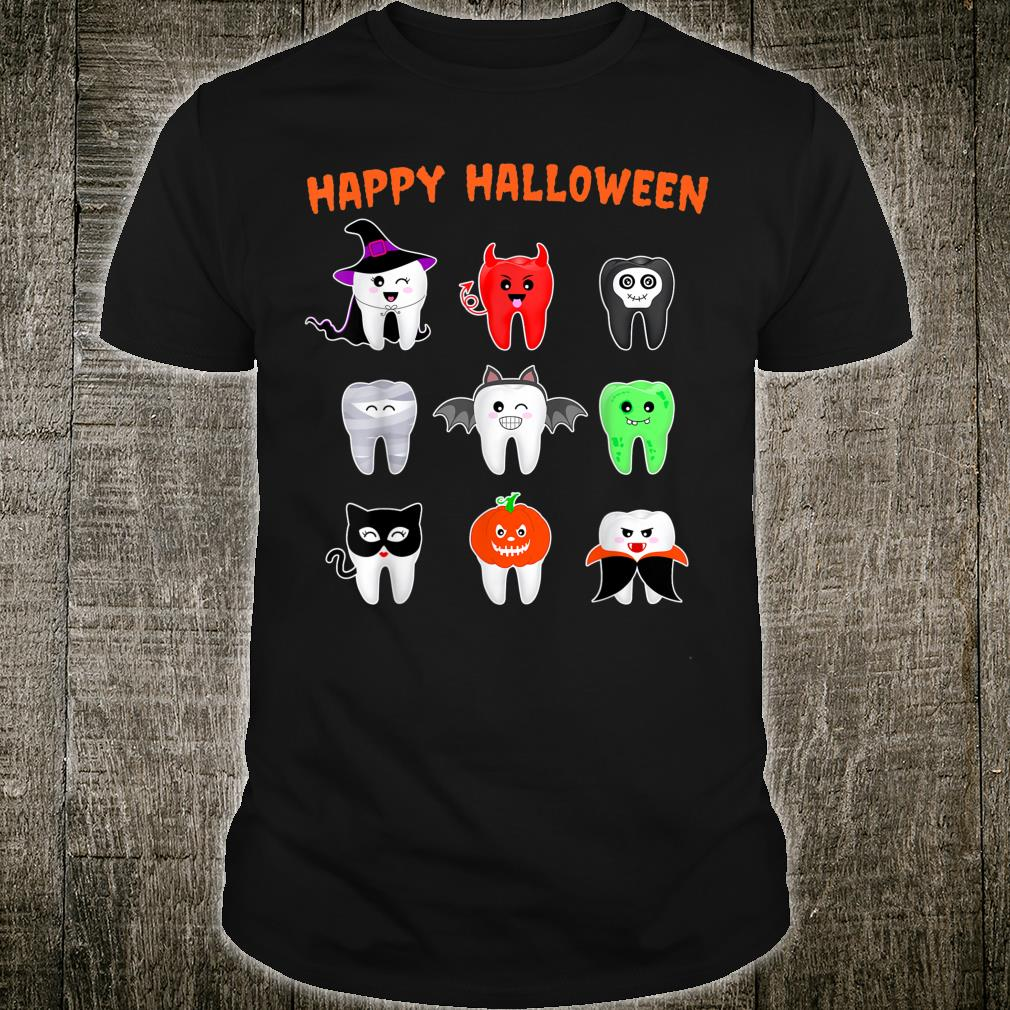 Funny Halloween Tooth Monster Costume For Dental Assisting Shirt