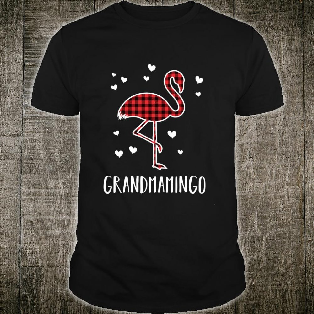 Grandmamingo Buffalo Plaid Flamingo Matching Christmas Shirt