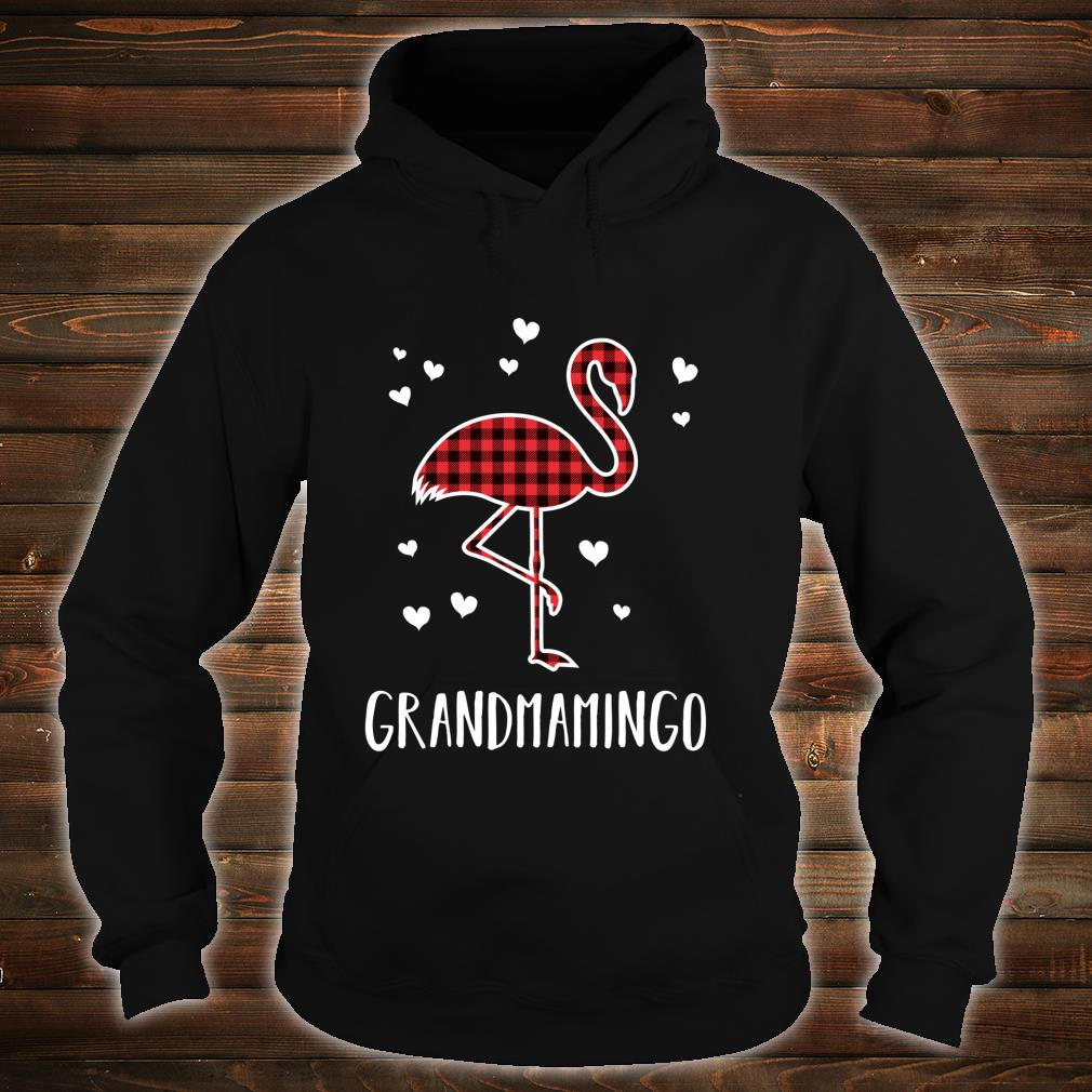 Grandmamingo Buffalo Plaid Flamingo Matching Christmas Shirt hoodie