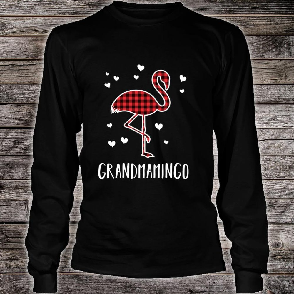 Grandmamingo Buffalo Plaid Flamingo Matching Christmas Shirt long sleeved