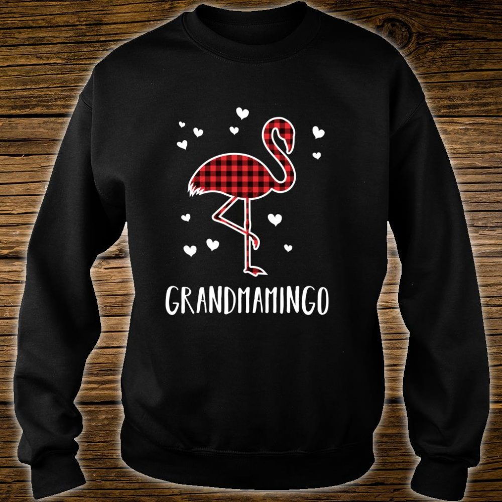 Grandmamingo Buffalo Plaid Flamingo Matching Christmas Shirt sweater
