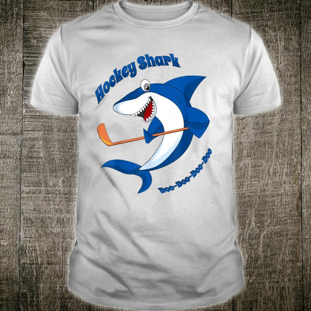 Hockey Shark Shirt Cartoon for Ice Hockey Players Shirt