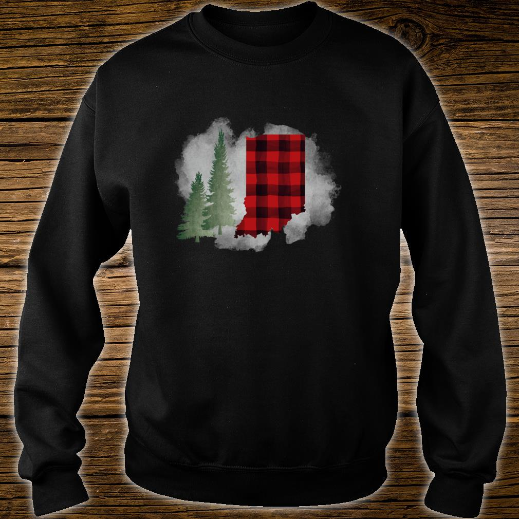 Hoosier State Indiana Buffalo Plaid Winter Scene Shirt sweater