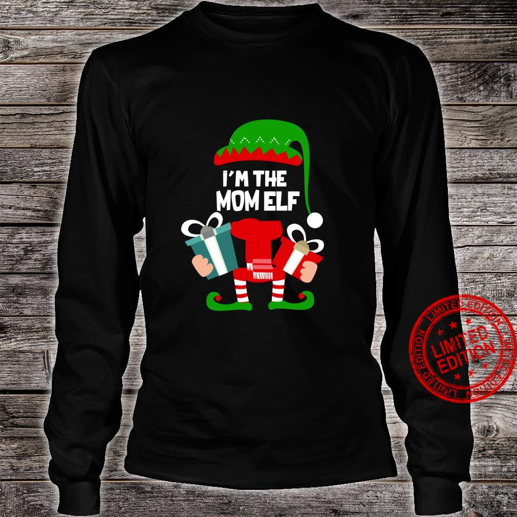 I'm The Mom Elf Outfit Christmas Couple Matching Shirt long sleeved