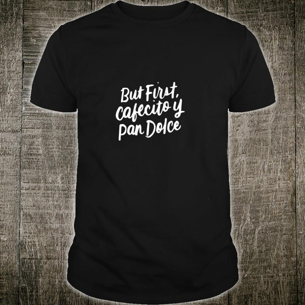 Latina Mom Cute Spanish Coffee and Conchas Pun Mother's Day Shirt