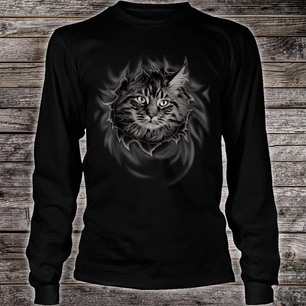 Maine Coon Cat Shirt long sleeved