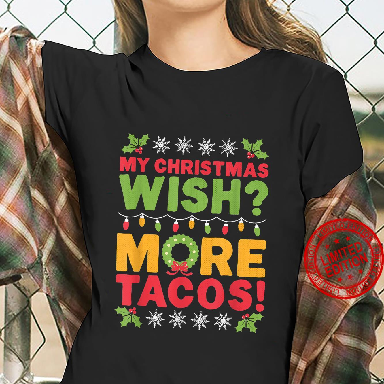 Men's Christmas Tacos Shirt ladies tee