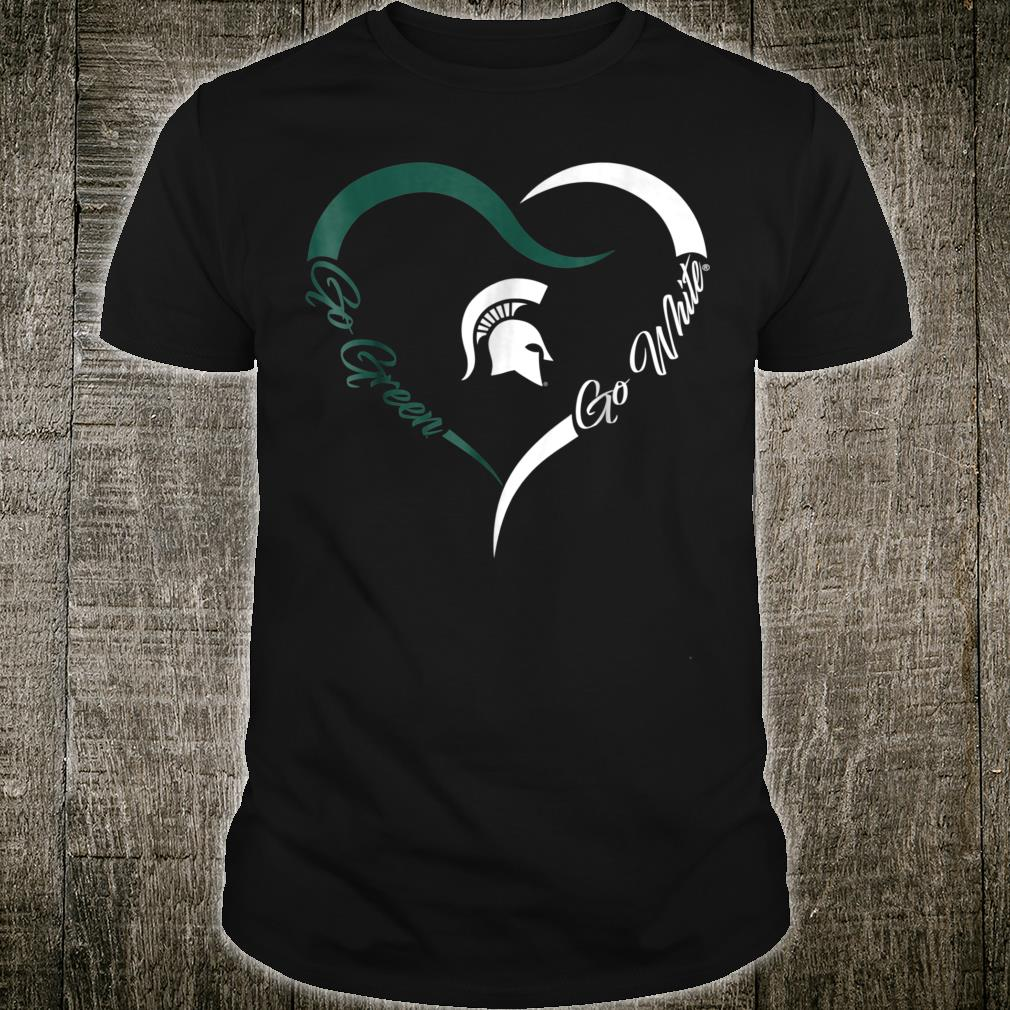 Michigan State Spartans Half Heart Shirt
