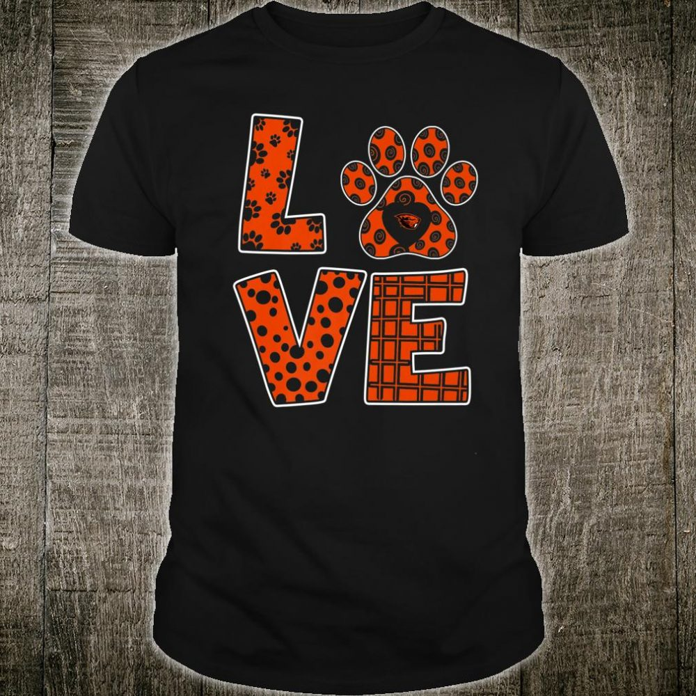 Oregon State Beavers Stacked Love Graduate Shirt
