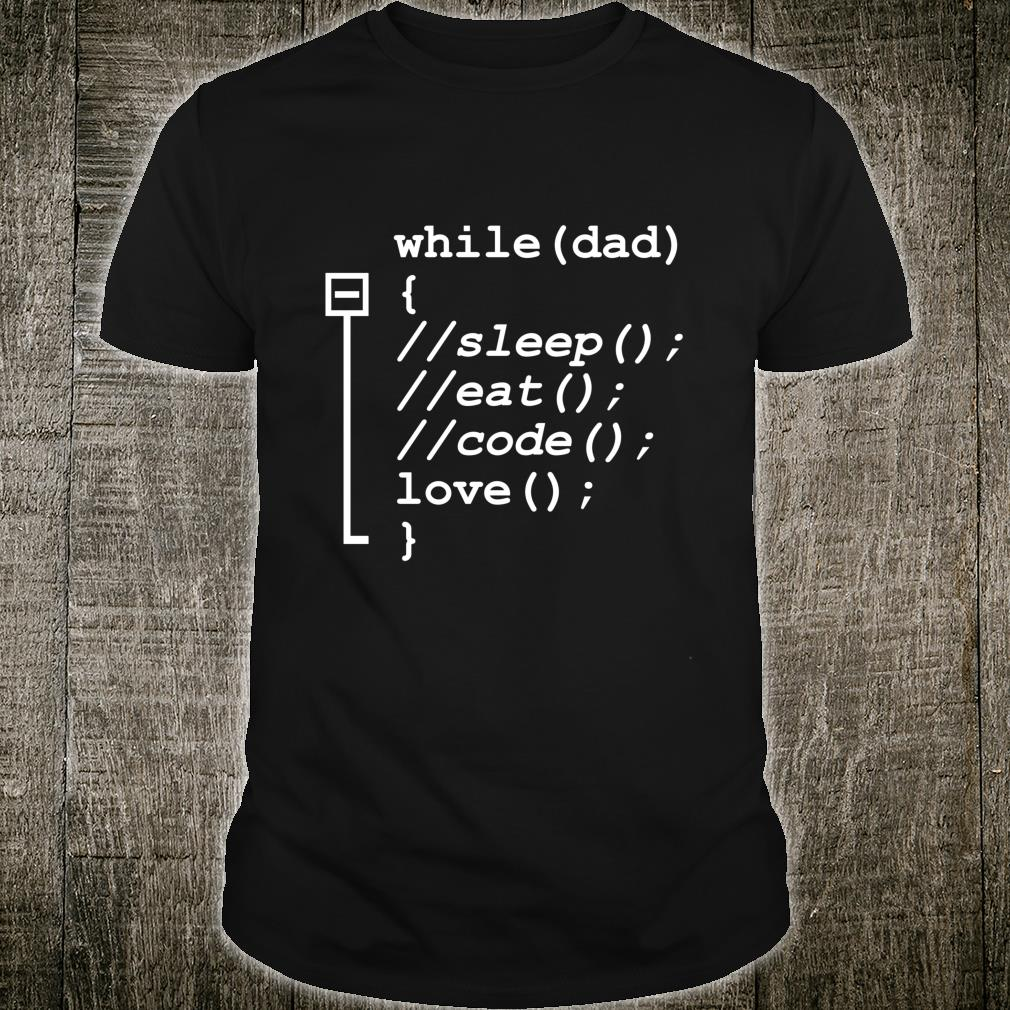 Programmer Dad Sleep, Eat, Code Father's Day Shirt