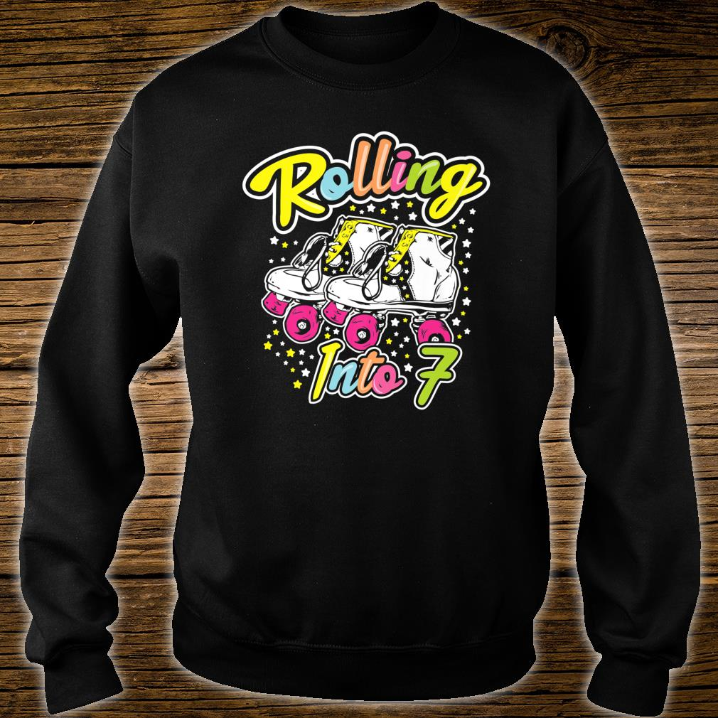 Rolling Into 7 Years Old Bday Girl Let's Roll 7 th Birthday Shirt sweater