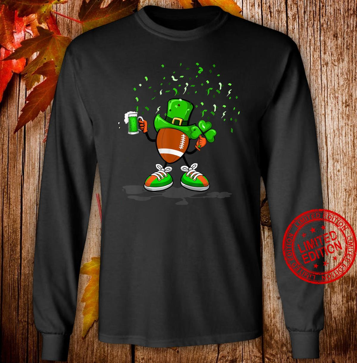 Rugby Irish Drinking Beer Ireland Pride St. Paddy's Feast Shirt long sleeved