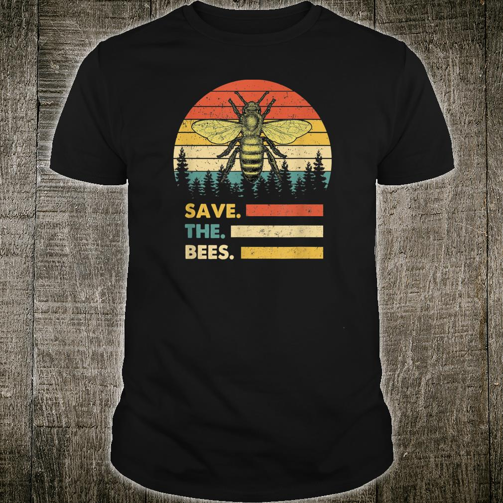Save The Bees tShirt Vintage Retro Style Climate Change Shirt