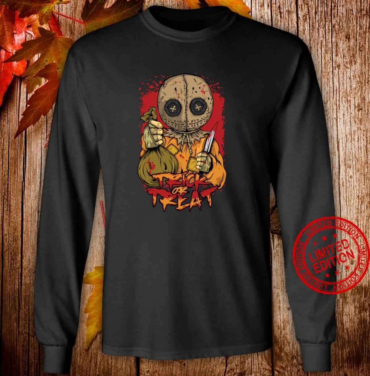 Scary Trick Treat Halloween Horror Ghost Costume for Shirt Shirt long sleeved