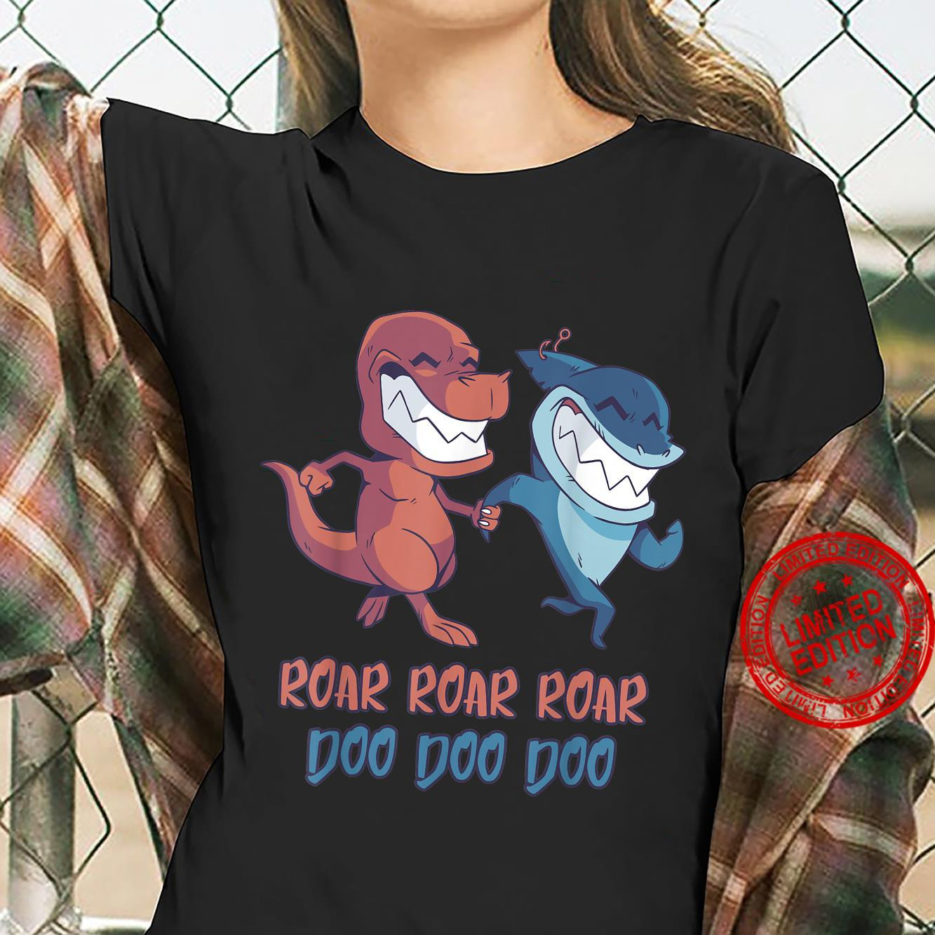 Shark and TRex Friends Forever Shirt ladies tee