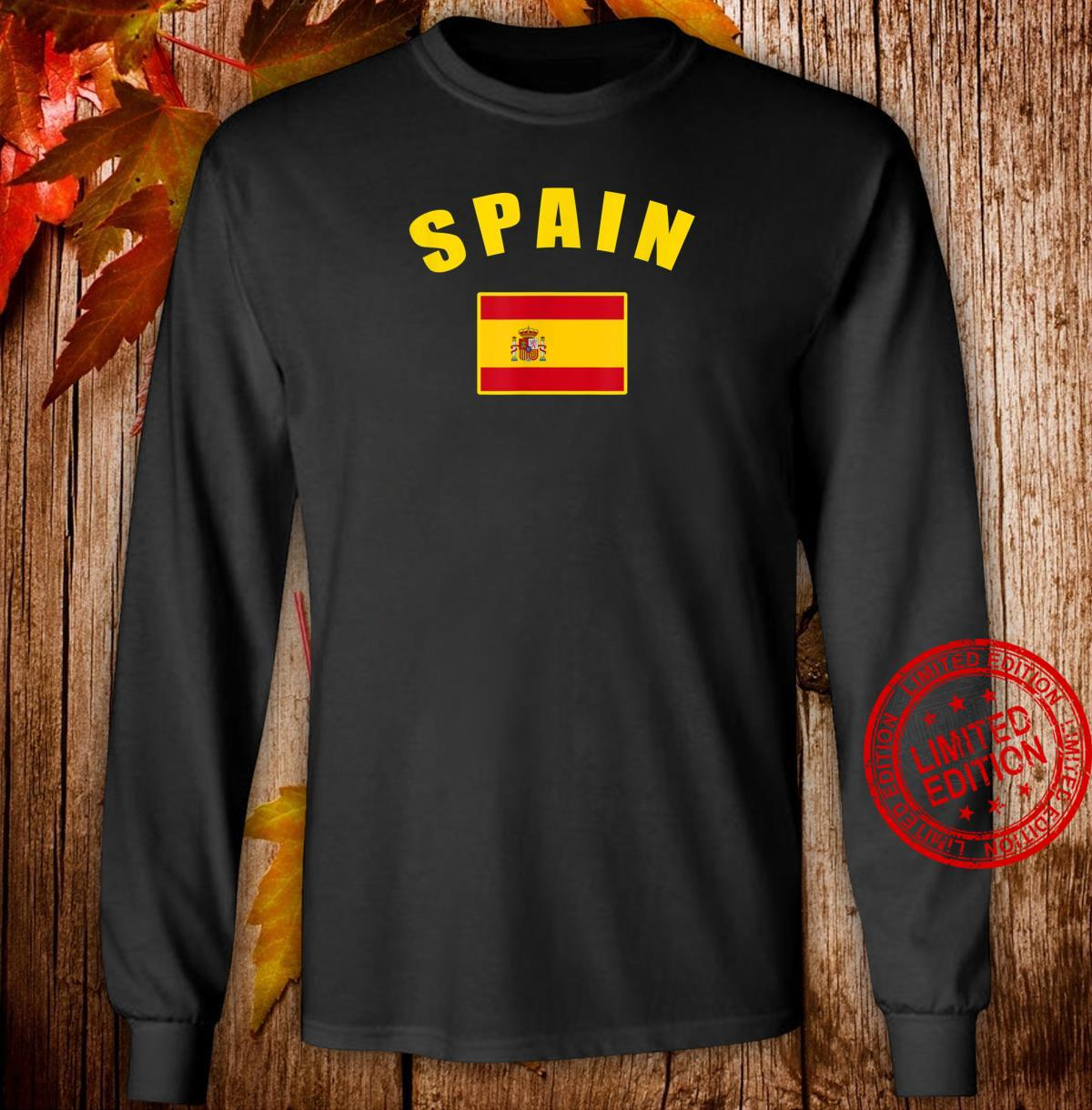 Spain flag Spanish National Country Flag Spanish flag Shirt long sleeved