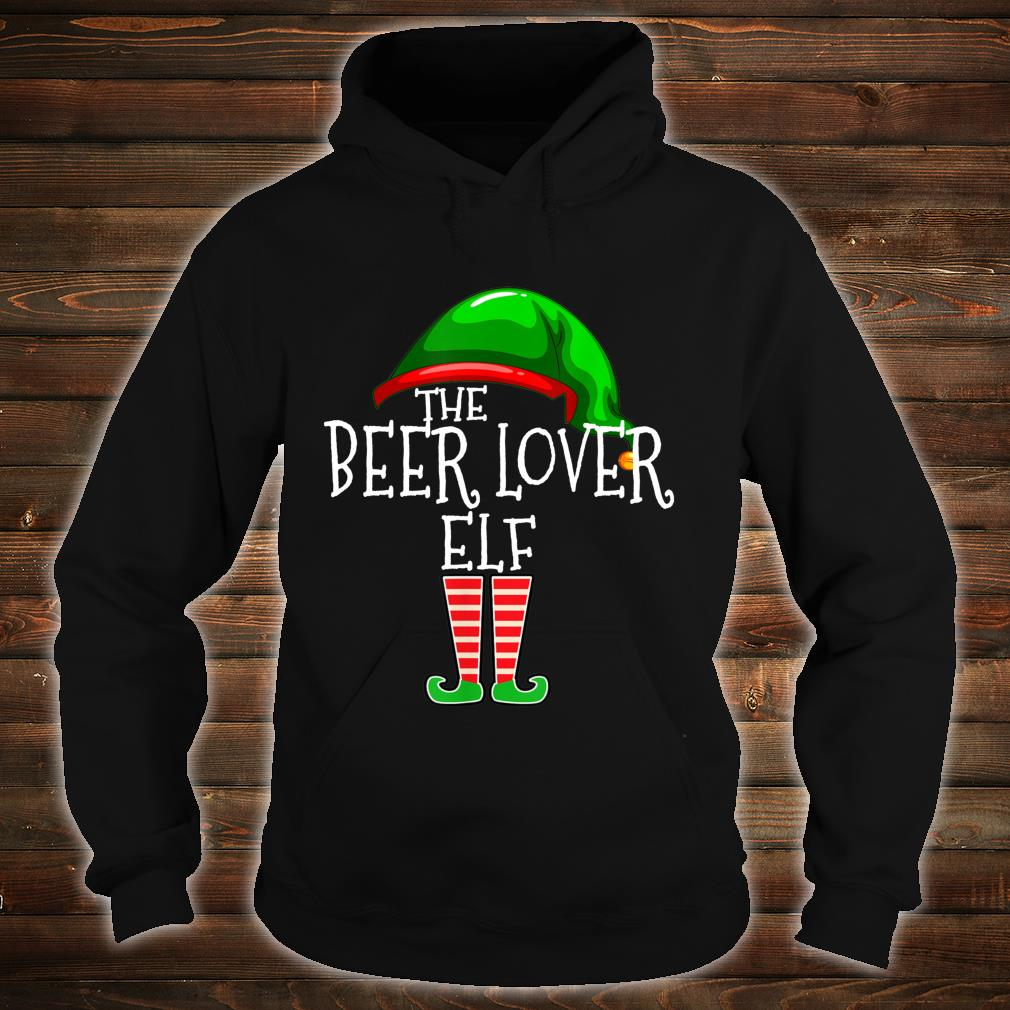 The Beer Elf Family Matching Group Christmas Shirt hoodie