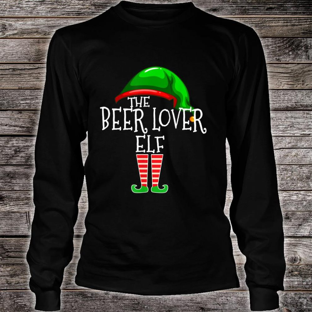 The Beer Elf Family Matching Group Christmas Shirt long sleeved