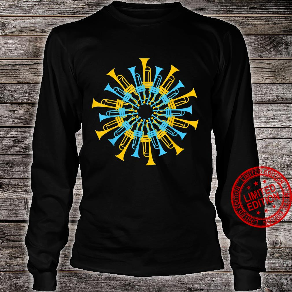 Vintage Retro Trumpet Player Jazz Musician Marching Band Shirt long sleeved