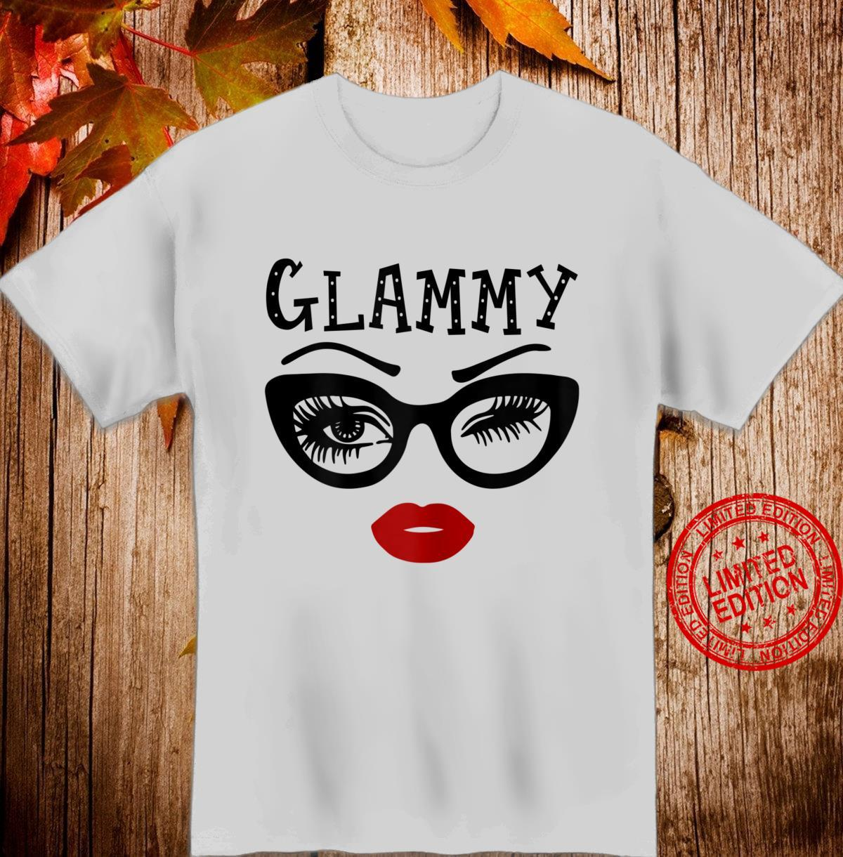 Womens Glammy Wink Eye Face Wink Eyes Lady Birthday Shirt
